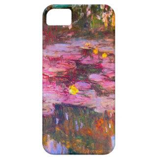 Caja púrpura del iPhone 5 de los lirios de agua de iPhone 5 Case-Mate Cárcasas