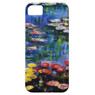 Caja púrpura del iPhone 5 de los lirios de agua de Funda Para iPhone SE/5/5s