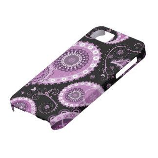 Caja púrpura del iPhone 5 de Paisley iPhone 5 Protector