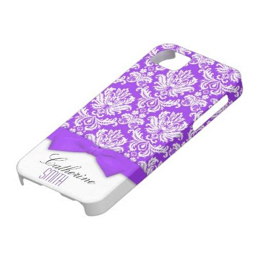 Caja púrpura del iPhone 5 del arco del damasco iPhone 5 Carcasas