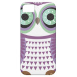 Caja púrpura del iPhone 5 del búho iPhone 5 Case-Mate Fundas