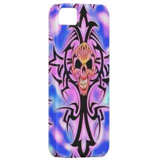 Caja púrpura del iPhone 5 del cráneo iPhone 5 Carcasas