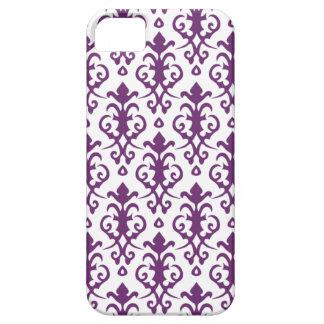 Caja púrpura del iPhone 5 del damasco del Phlox iPhone 5 Cobertura