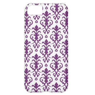 Caja púrpura del iPhone 5 del damasco del Phlox