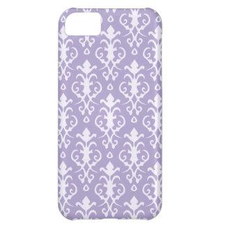 Caja púrpura del iPhone 5 del damasco