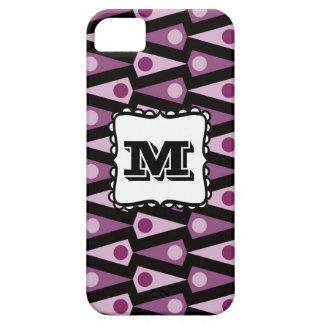 Caja púrpura del iPhone 5 del monograma del modelo iPhone 5 Case-Mate Cárcasas