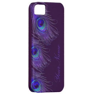 caja púrpura del iphone 5 del pavo real iPhone 5 fundas