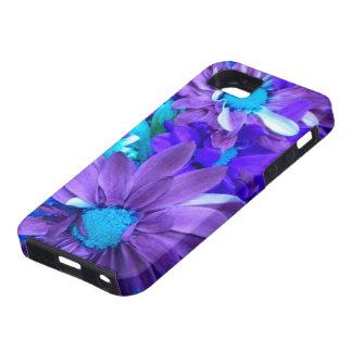 Caja púrpura del iPhone 5 del ramo de la turquesa  iPhone 5 Case-Mate Cárcasas