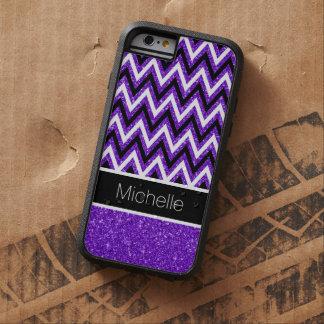 Caja púrpura del iPhone 6 de Chevron Xtreme del Funda Para iPhone 6 Tough Xtreme