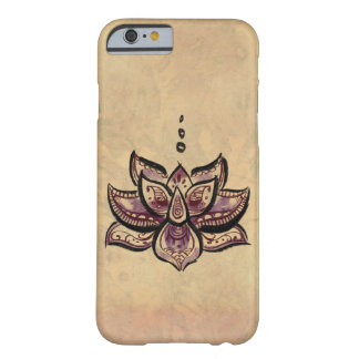 Caja púrpura del iPhone 6 de la flor de Lotus Funda Para iPhone 6 Barely There