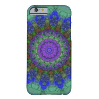 Caja púrpura del iPhone 6 de la mandala de la Funda De iPhone 6 Barely There