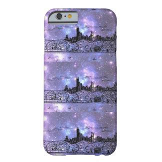 Caja púrpura del iPhone 6 de la nebulosa de Funda Barely There iPhone 6