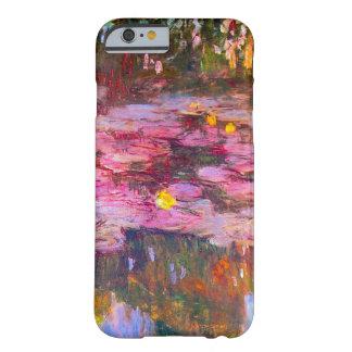 Caja púrpura del iPhone 6 de los lirios de agua de Funda De iPhone 6 Barely There
