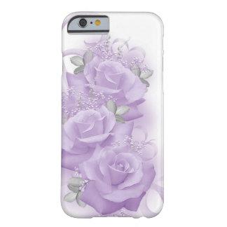 Caja púrpura del iPhone 6 de los rosas