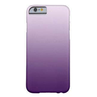 Caja púrpura del iPhone 6 de Ombre Funda De iPhone 6 Barely There