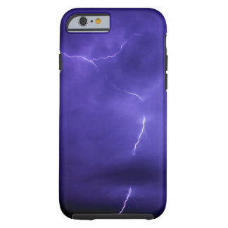 Caja púrpura del iPhone 6 del aligeramiento del Funda Para iPhone 6 Tough