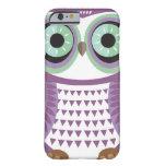 Caja púrpura del iPhone 6 del búho Funda De iPhone 6 Barely There