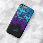 Caja púrpura del iPhone 6 del fractal de la Funda Barely There iPhone 6