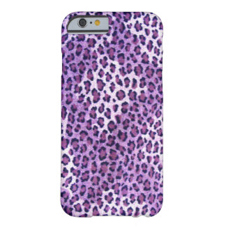 Caja púrpura del iPhone 6 del leopardo Funda Barely There iPhone 6