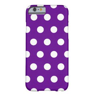 Caja púrpura del iPhone 6 del lunar Funda De iPhone 6 Barely There