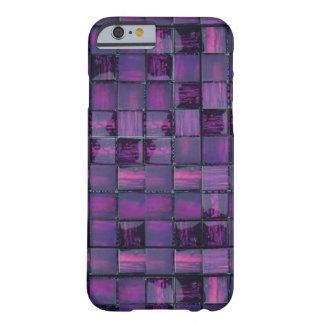Caja púrpura del iPhone 6 del modelo de la teja Funda De iPhone 6 Barely There