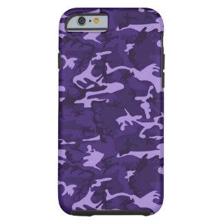 Caja púrpura del iPhone 6 del modelo del camuflaje Funda Para iPhone 6 Tough