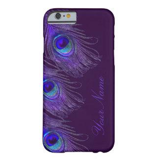 caja púrpura del iPhone 6 del pavo real