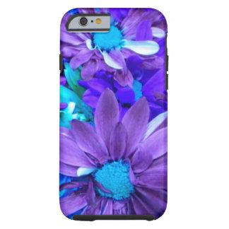 Caja púrpura del iPhone 6 del ramo de la turquesa