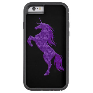 Caja púrpura del iPhone 6 del unicornio del fuego Funda De iPhone 6 Tough Xtreme