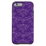 Caja púrpura del iPhone 6 del vintage