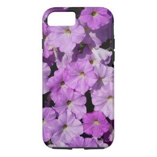 Caja púrpura del iPhone 7 de las petunias dura Funda iPhone 7