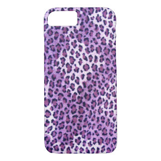 Caja púrpura del iPhone 7 del leopardo Funda iPhone 7