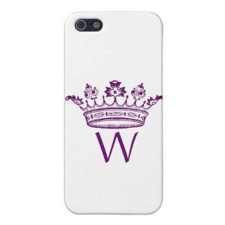 Caja púrpura del iPhone de la corona iPhone 5 Fundas
