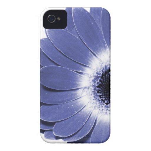 caja púrpura del iPhone de la flor de la margarita iPhone 4 Case-Mate Coberturas