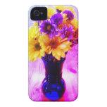 Caja púrpura del iPhone de la flor Case-Mate iPhone 4 Carcasa