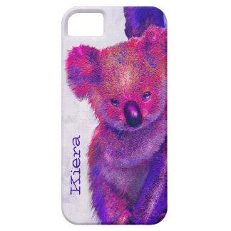 caja púrpura del iphone de la koala iPhone 5 cárcasas