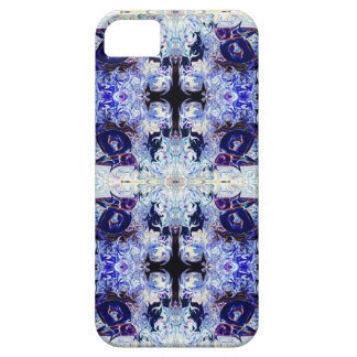 Caja púrpura del iPhone de la yoga del conejo por iPhone 5 Fundas