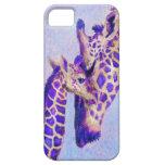 caja púrpura del iphone de las jirafas iPhone 5 cárcasas