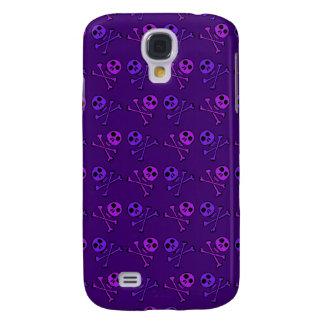 Caja púrpura del iPhone de los cráneos Funda Para Galaxy S4