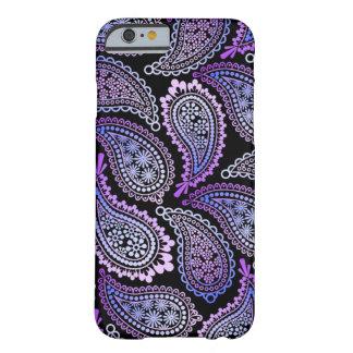 Caja púrpura del iPhone de Paisley Funda Barely There iPhone 6