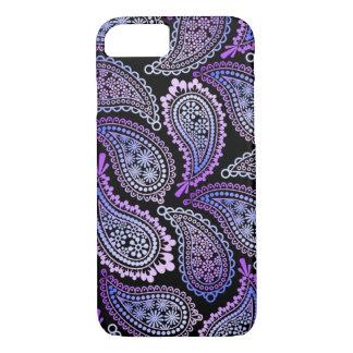 Caja púrpura del iPhone de Paisley Funda iPhone 7
