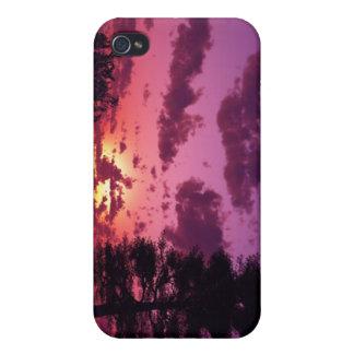 Caja púrpura del iPhone del cielo iPhone 4/4S Fundas