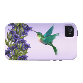 Caja púrpura del iPhone del colibrí de las Vibe iPhone 4 Fundas