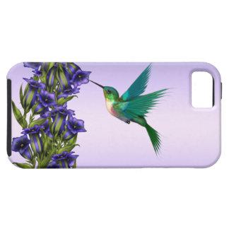 Caja púrpura del iPhone del colibrí de las violeta iPhone 5 Case-Mate Cárcasas