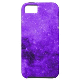 Caja púrpura del iPhone del espacio iPhone 5 Cárcasas