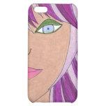 Caja púrpura del iPhone del pelo
