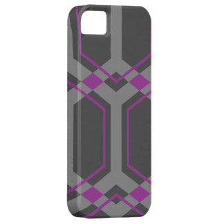 Caja (púrpura) del iPhone S de Panal iPhone 5 Cárcasas