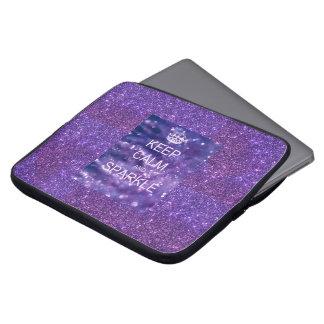Caja púrpura del ordenador portátil de la chispa fundas computadoras