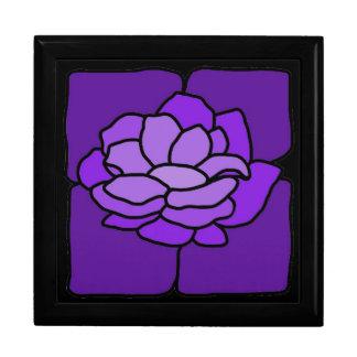 Caja púrpura del recuerdo de la joyería de Lilly d Caja De Joyas