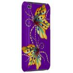 Caja púrpura del tacto de iPod de la mariposa incr iPod Touch Case-Mate Protectores